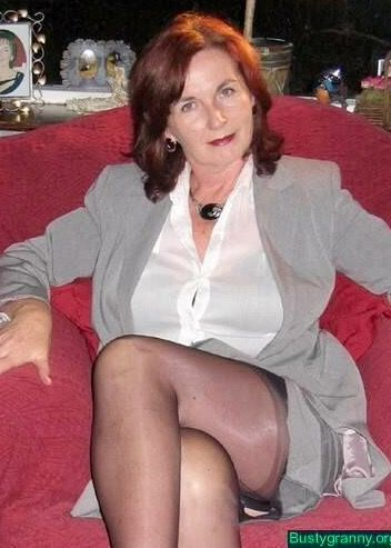DELORES: Old milf upskirt at store