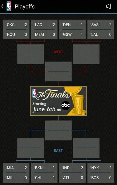 NBA Playoff standings as of Thursday, 4-25 Tonight games MIA vs.MIL, BKN vs CHI, LAC vs MEM