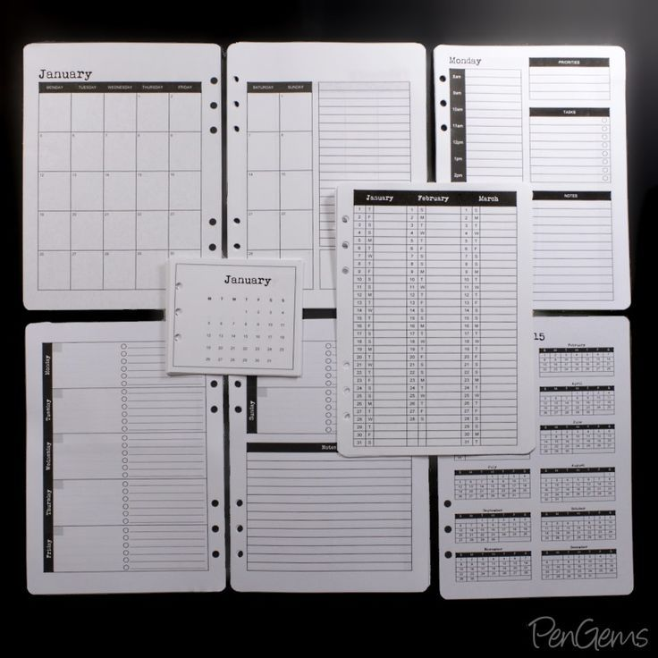 Free 2015 A5 Planner Printables from PenGems: