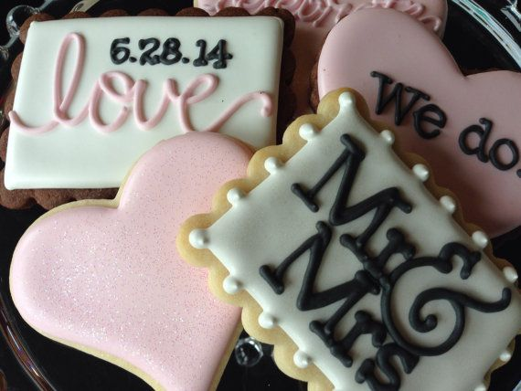 I Do Sugar Cookie Wedding Collection by NotBettyCookies on Etsy