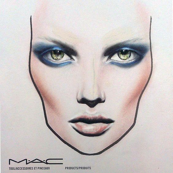 MAC face chart: