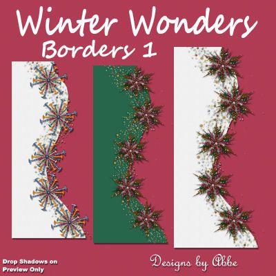 Winter Wonders Borders 1