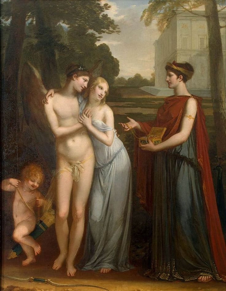"Pierre-Paul Prud'hon: ""Innocence Preferring Love to Wealth"", 1804, Oil on panel, 34.3 x 27.2 cm (13 1/2 x 10 9/16 in.), Art Institute of Chicago."