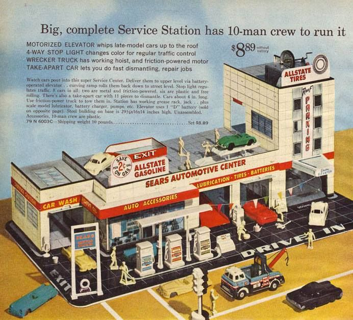 Toys At Sears : Sears toy service station vintage advertisements