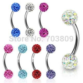 Ferido eyebrow piercing labret bar nose ring body jewelry free shipping 1pcs/lot
