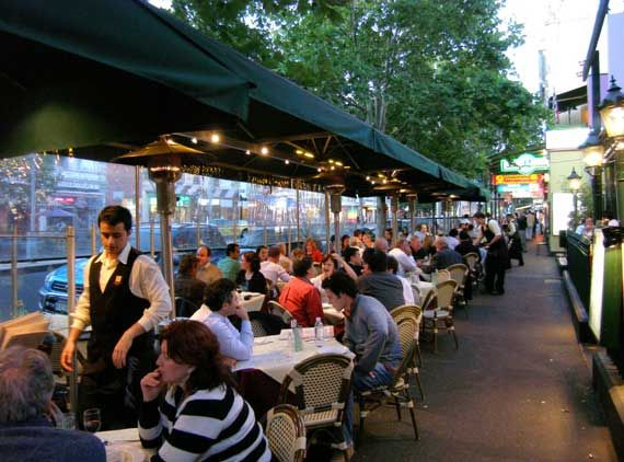 Lygon Street, Carlton, is Australia's culinary centre with over 300 restaurants.