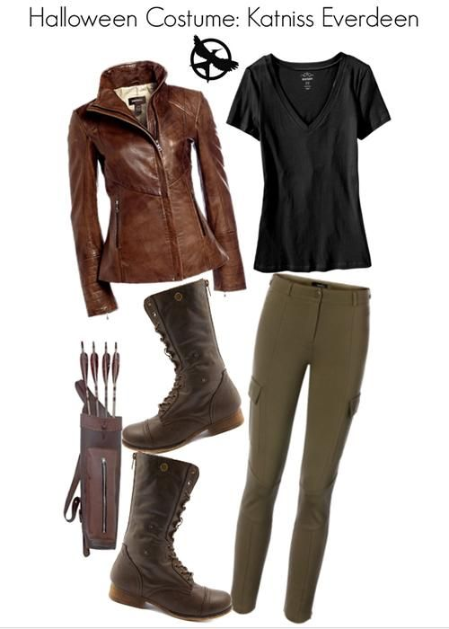 Halloween Costume: Katniss Everdeen | I'll definitely do this just add on a bow though