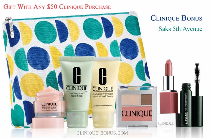 Free Clinique gift @ Saks. Qualifier is $50. Promo code required: CLINIQ83 http://clinique-bonus.com/other-us-stores/