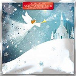 Paperhouse Charity Christmas Cards - Snow Angel Cards - Sold In Support of British Heart Foundation, Age UK, Tenovus, Motor Neurone Disease, NSPCC and Diabetes UK by GBCC