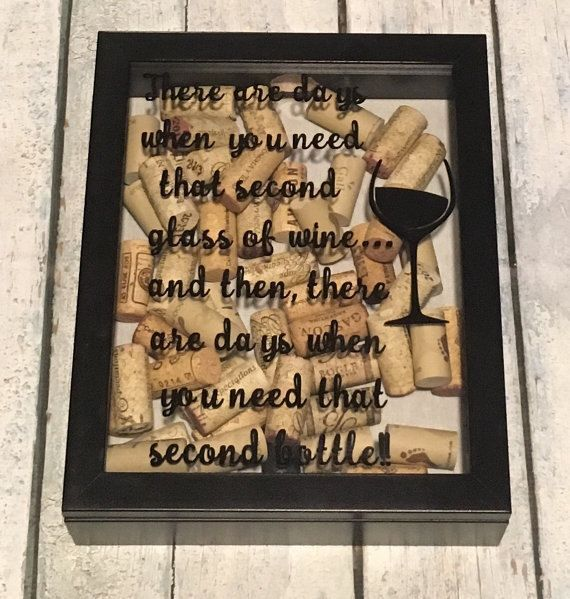 wine cork shadow box wine cork frame wine cork collector wine enthusiast gift