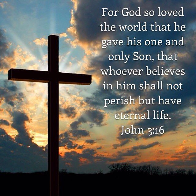 #biblequote #biblequoteoftheday #bible #bibleverses #inspirational #inspirationalverses #God #Jesus #Christ #scripture #prayer #faith #love #hope #strength #life #biblequotes #belief #john #devotion #devotional #HolySpirit #peace #glory #mercy #trust #gospel #ilovejesus  For God so loved the world that he gave his one and only Son that whoever believes in him shall not perish but have eternal life. For God did not send his Son into the world to condemn the world but to save the world…