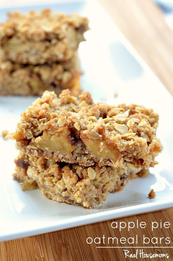 Apple Pie Oatmeal Bars | Real Housemoms