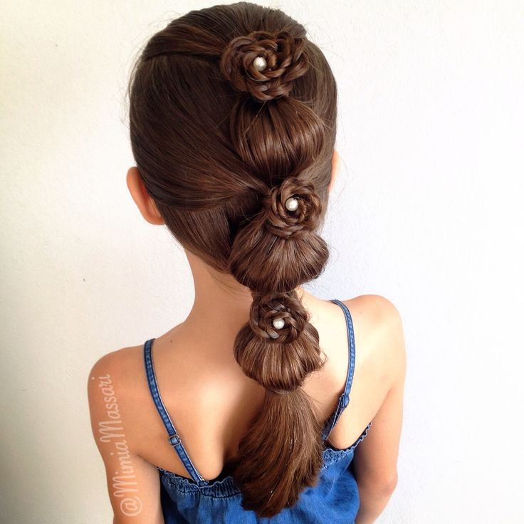 Bubble Hairstyle with Rosettes by @mimiamassari
