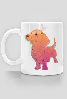 print on mug, dog, dachshund