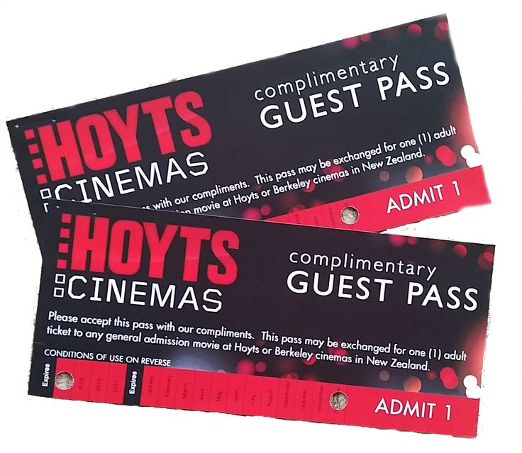 We often have Hoyts movie passes to give away for a great night out!