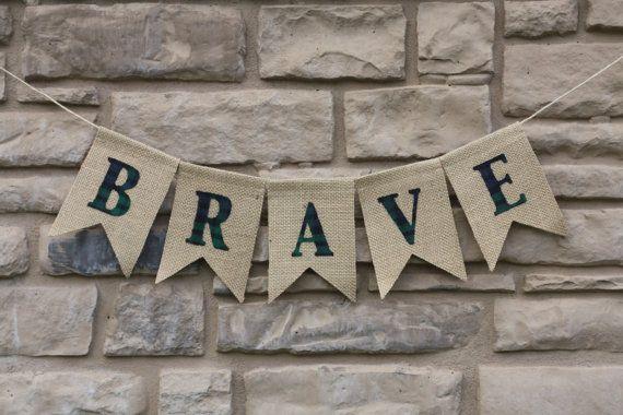 BRAVE garland,   BRAVE Party,  party prop, BRAVE banner, disney Brave, Brave birthday,  Team Dunbroch via Etsy