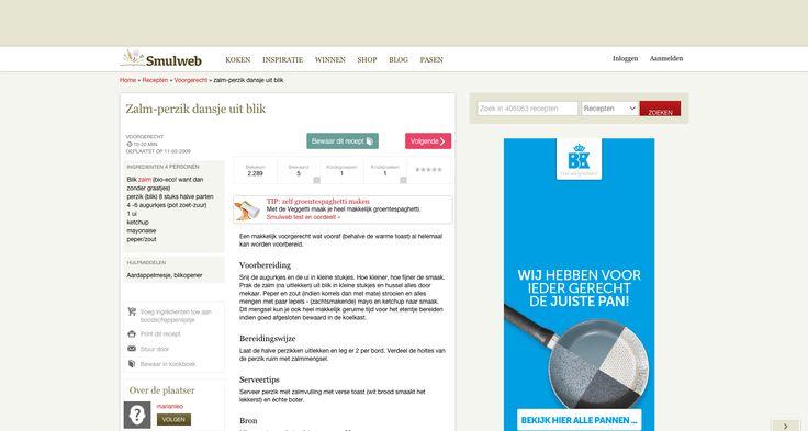 Zalm-perzik Dansje Uit Blik recept | Smulweb.nl