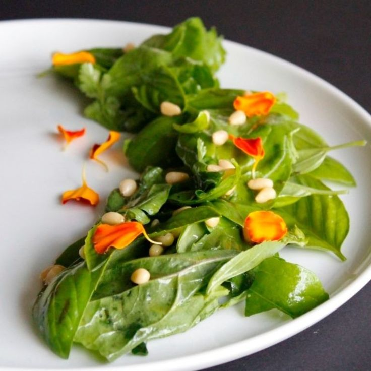 I don't know if everyone does it, but I know that I certainly eat with my eyes.  I love making the most simple of things pretty so I can almost feel that I have eaten without taking a bite.  Green salad with lemon vinaigrette.  Part of my coursework for Fundamentals of Food Photography at Plantlab Culinary