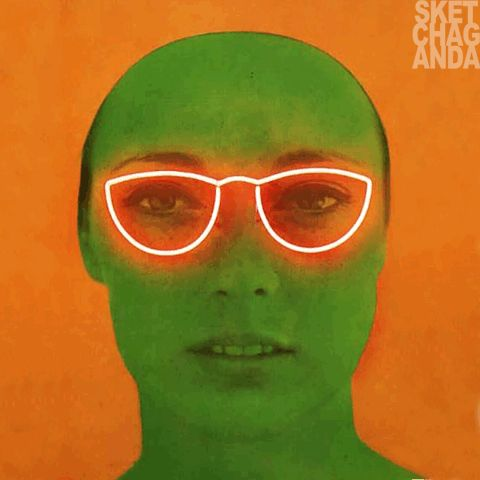 Martial Raysse's La France verte gif by Sketchaganda Martial Raysse Pop art