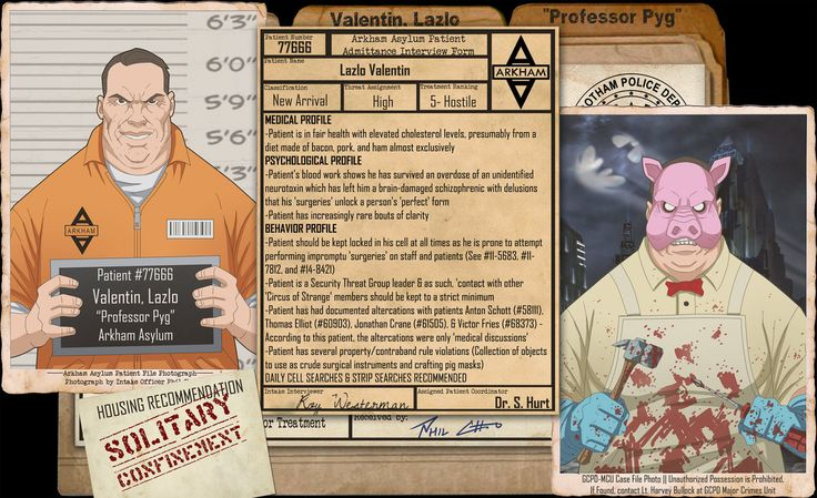 Arkham Files - Professor Pyg by Roysovitch