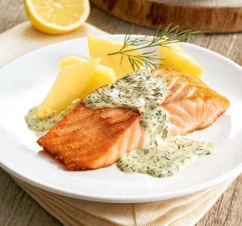 Lachs in Zitronen-Dill-Soße Rezept | Dr.Oetker
