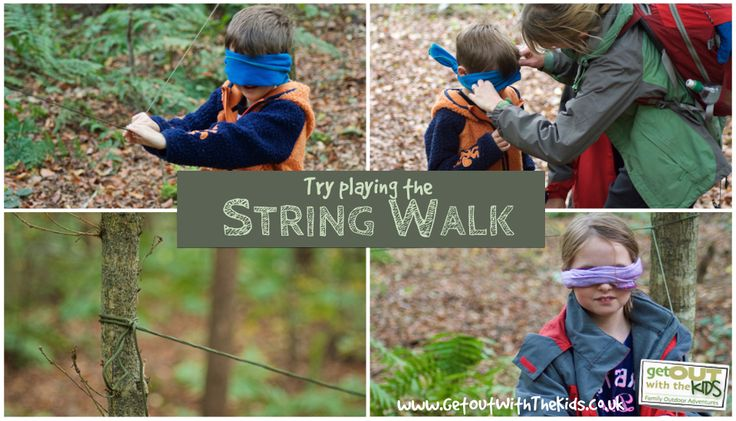 Kids can get 'bored' or 'tired' on a walk but often only need a little bit of distraction. Here's another idea for keeping them motivated using string.