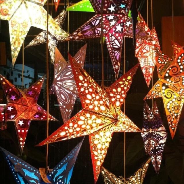 Paper star lights