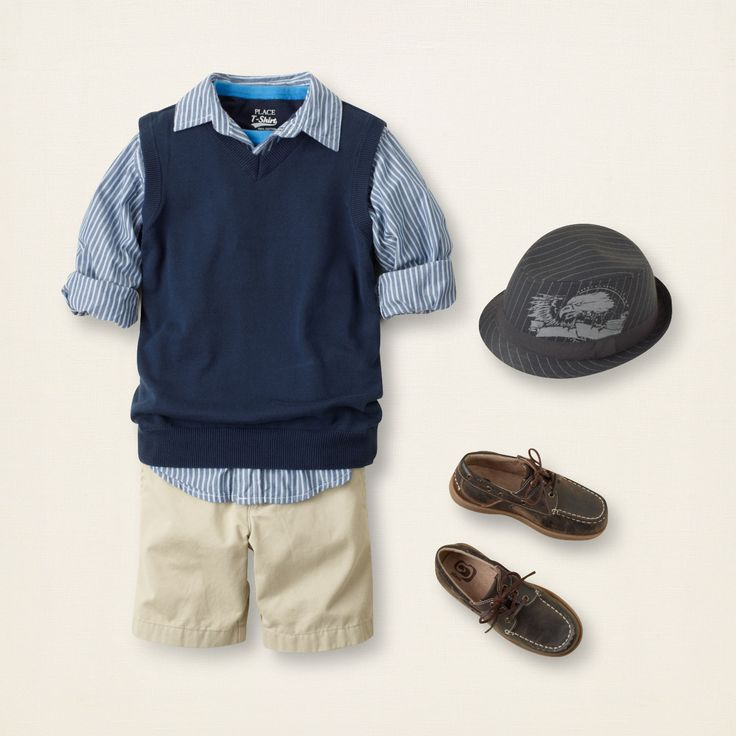 uniform sweater vest   The Children's Place. I love the hat!