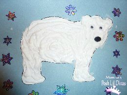 Puffy paint Polar Bear with lots of other bear themed activities perfect for winter.