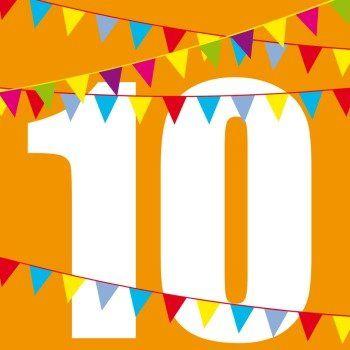 Bunte Fähnchen 10 | Einladung Zum 10. Geburtstag