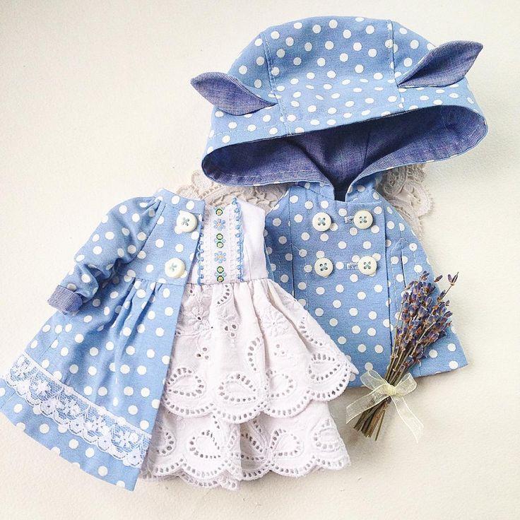 Комплект для куклы Блайз, сделано на заказ. #блайз #куклаблайз #одеждадляблайз #одеждадлякукол #горошек #комплектдлякуклы ##blythe #blythedoll #blythegram