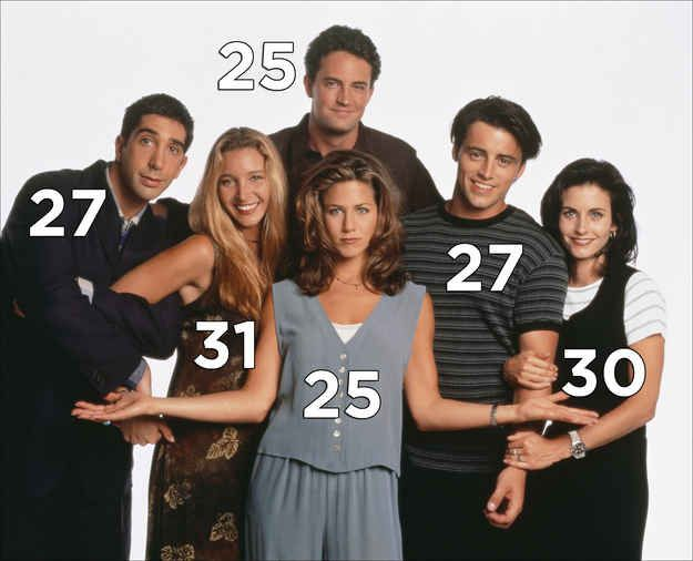 """The ages of the cast when the show premiered: 