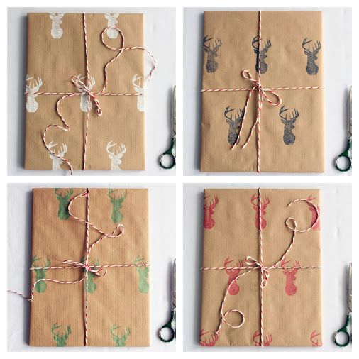 Handmade Christmas wrapping paper #Christmas #wrapping #kraft #paper #brown…