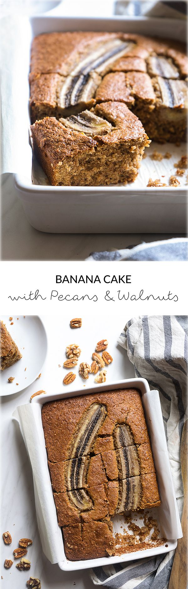 Gâteau aux bananes avec noix de pécan & noix | Ce gâteau à la banane super rapide et facile …   – manger: sucré
