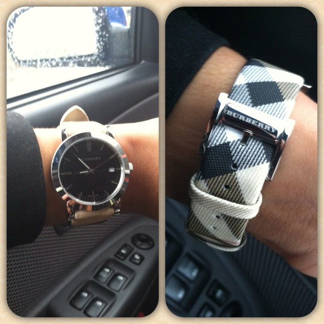 New Burberry watch, uhmm yes.