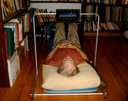 Floating iPad bed stand $183.00