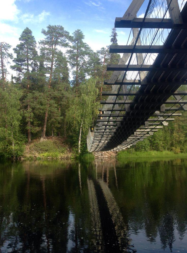 Bridge - hike. Lapland, Finland - near Juuma.