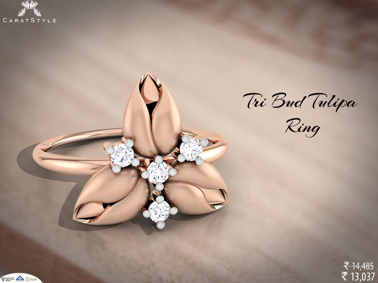 Ring which goes never out of style. #diamond #gold #ring #diamondring #goldring #floralring #weddingring #ringforgirls