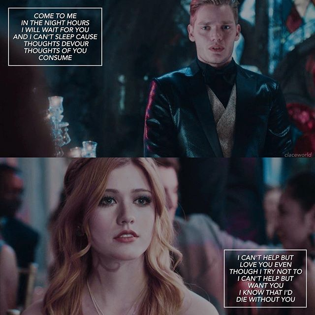 — [clace + 'war of hearts' by ruelle] BRB JUST GOING TO DROWN IN THE FEELS OF MY OTP AND THIS INSANELY GOOD SONG