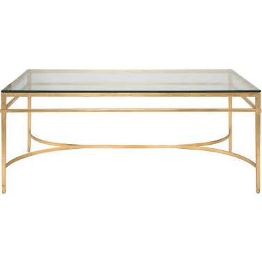 glass and gold square coffee table - Google Search