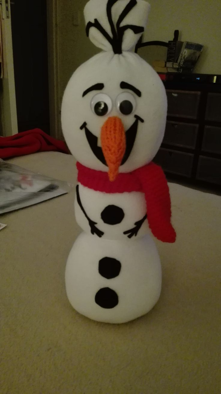 Olaf for Kenzy (made out of a sock!)