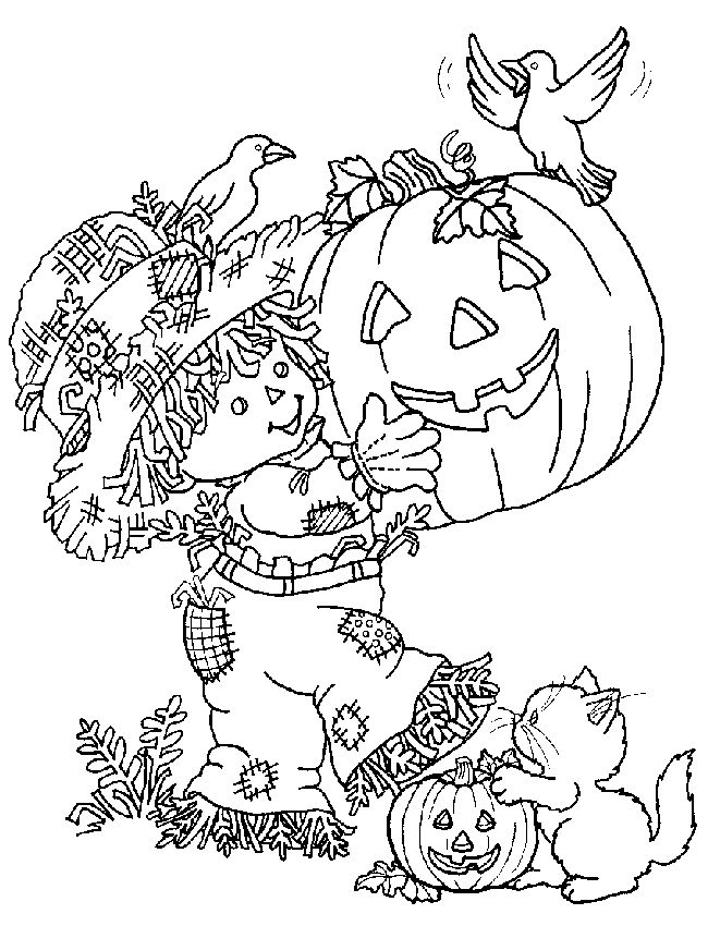 scary halloween tree coloring pages - photo#11