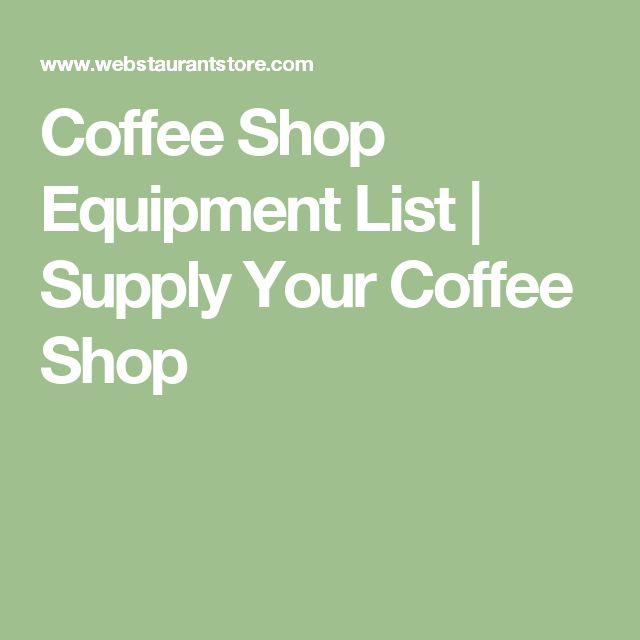 Coffee Shop Equipment List | Supply Your Coffee Shop