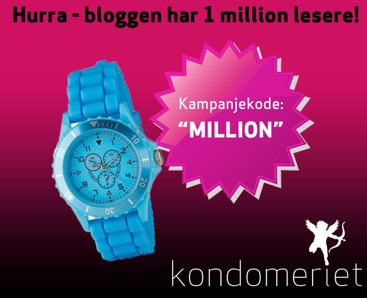 Hurra, 1 million lesere – DU får gavene!