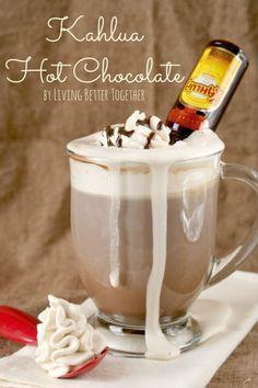 Hot Cocoa Slow Cooker Recipe Plus 10 Spiked Hot Chocolate Ideas- Kahlua Hot Chocolate