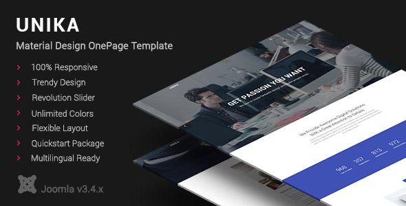 Unika | Responsive Material Design Joomla Template