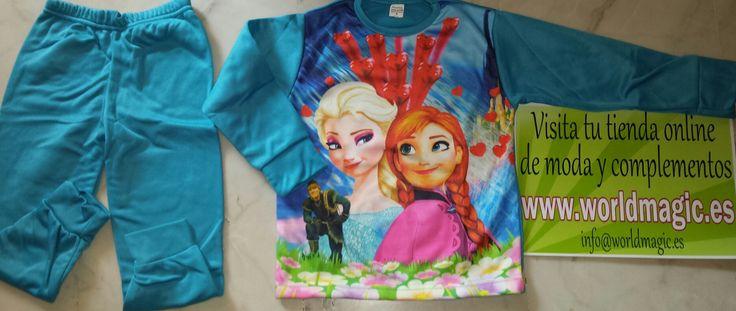 Pijama Frozen  Este artículo lo encontrará en nuestra tienda on line  www.worldmagic.es info@worldmagic.es 951381126