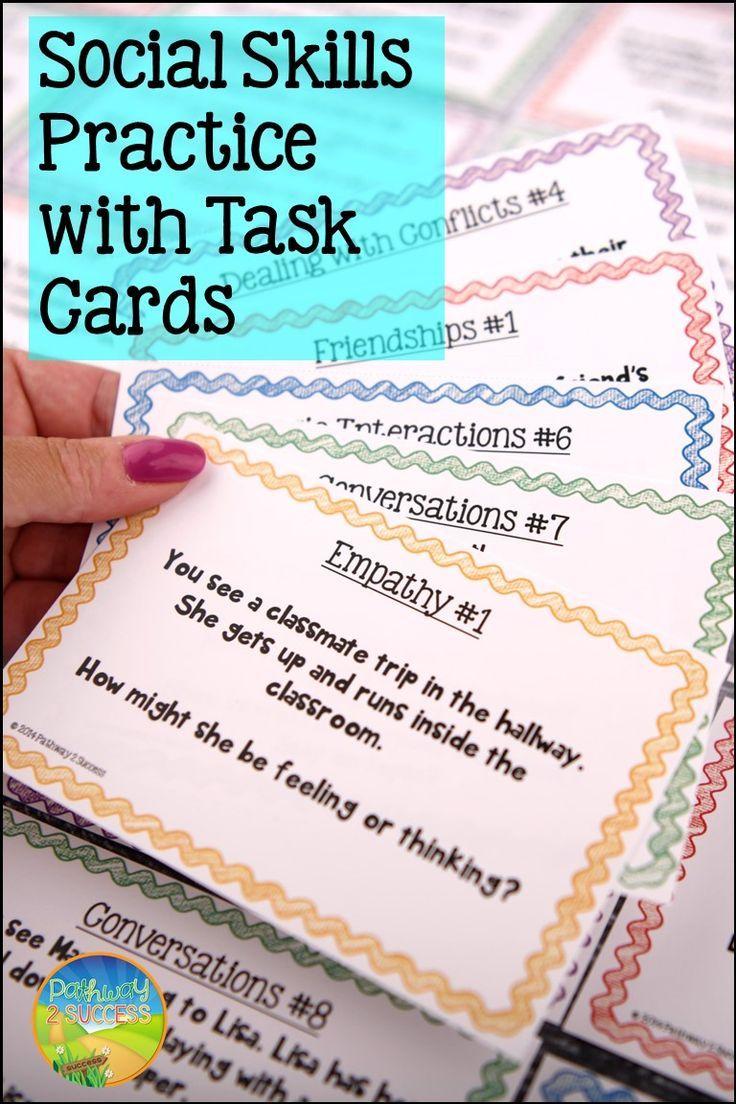 Social Skills Task Cards Distance Learning Digital Print Sel Activities Social Skills Social Emotional Learning Social Emotional Skills