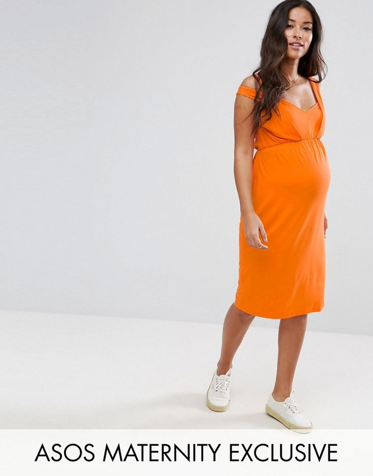 Get this Asos Maternity's jersey dress now! Click for more details. Worldwide shipping. ASOS Maternity Twist Strap Dress - Orange: Maternity dress by ASOS Maternity, Stretch jersey, V-neck, Twisted strap design, Stretch over-the-bump band, Regular fit - true to size, Designed to fit through all stages of pregnancy, Machine wash, 95% Viscose, 5% Elastane, Our model wears a UK 8/EU 36/US 4 and is 173cm/5'8 tall. Maternity dressing gets bumped up to next-level status with the ASOS Maternity…