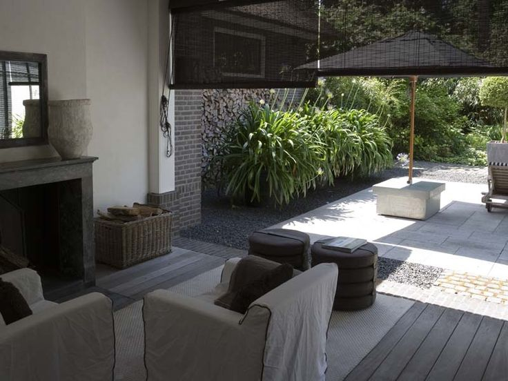 Indoor-outdoor. Love transition from areas. Could do a cobble built in sand matt at doors to make dusting sand off easier